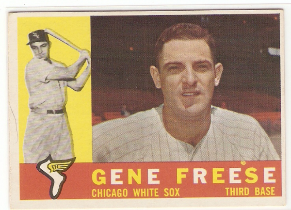 1960 Topps #435A Gene Freese WB