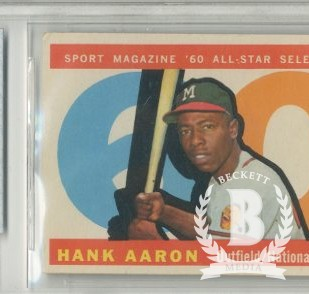 1960 Topps #566 Hank Aaron AS