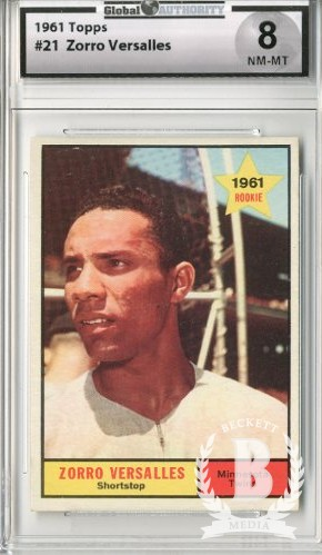 1961 Topps #21 Zorro Versalles/UER RC/First name should/be Zoilo