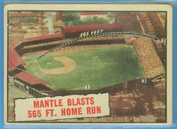 1961 Topps #406 Mickey Mantle 565 HR