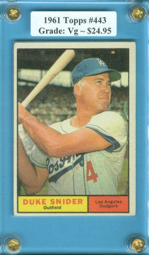 1961 Topps #443 Duke Snider
