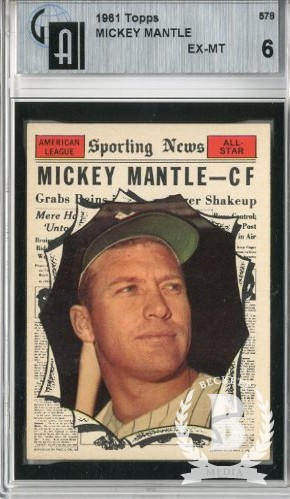 1961 Topps #578 Mickey Mantle AS
