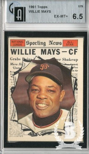 1961 Topps #579 Willie Mays AS