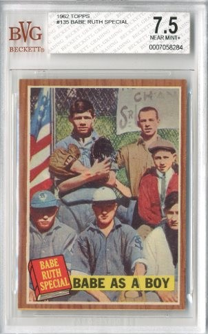 1962 Topps #135 Babe Ruth Special 1/Babe as a Boy