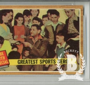 1962 Topps #143A Babe Ruth Special 9/Greatest Sports Hero/Green Tint