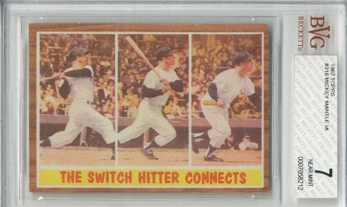 1962 Topps #318 Mickey Mantle IA
