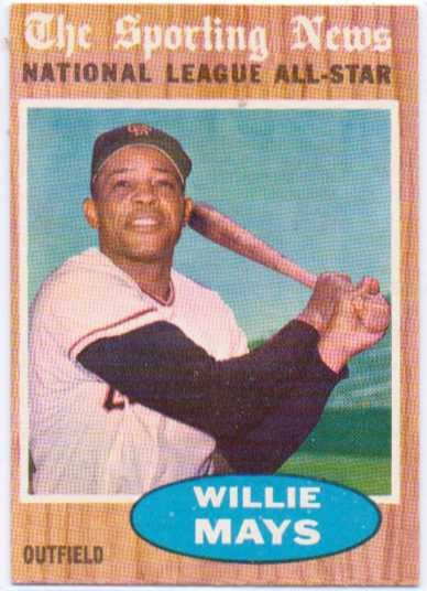 1962 Topps #395 Willie Mays AS