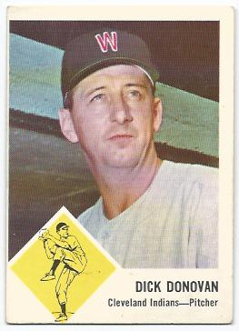 1963 Fleer #11 Dick Donovan