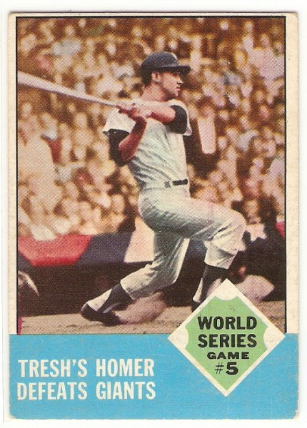 1963 Topps #146 World Series Game 5/Tom Tresh