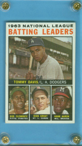 1964 Topps #7 NL Batting Leaders/Tommy Davis/Roberto Clemente/Dick Groat/Hank Aaron