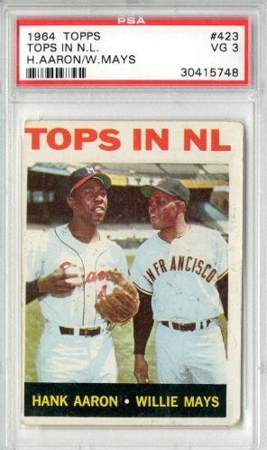1964 Topps #423 Tops in NL/Hank Aaron/Willie Mays