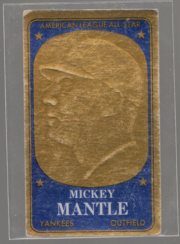 1965 Topps Embossed #11 Mickey Mantle