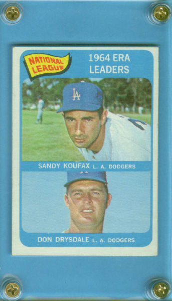 1965 Topps #8 NL ERA Leaders/Sandy Koufax/Don Drysdale