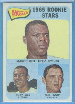 1965 Topps #537 Rookie Stars/Marcelino Lopez/Phil Roof/Rudy May RC