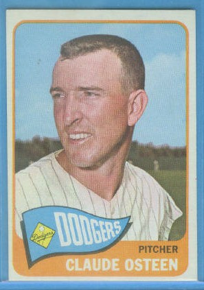 1965 Topps #570 Claude Osteen SP