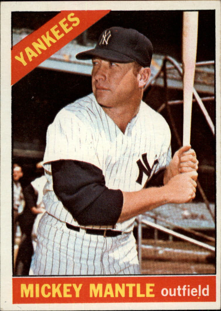 1966 Topps #50 Mickey Mantle DP