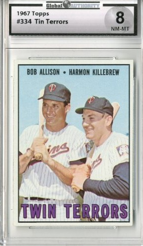 1967 Topps #334 Twin Terrors/Bob Allison/Harmon Killebrew