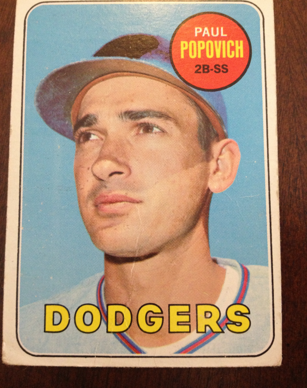 1969 Topps #47A Paul Popovich No C on Helmet - Thick Airbrush