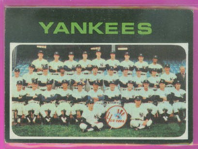 1971 Topps #543 New York Yankees TC