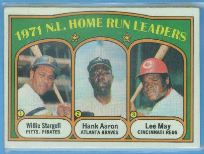1972 Topps #89 NL Home Run Leaders/Willie Stargell/Hank Aaron/Lee May