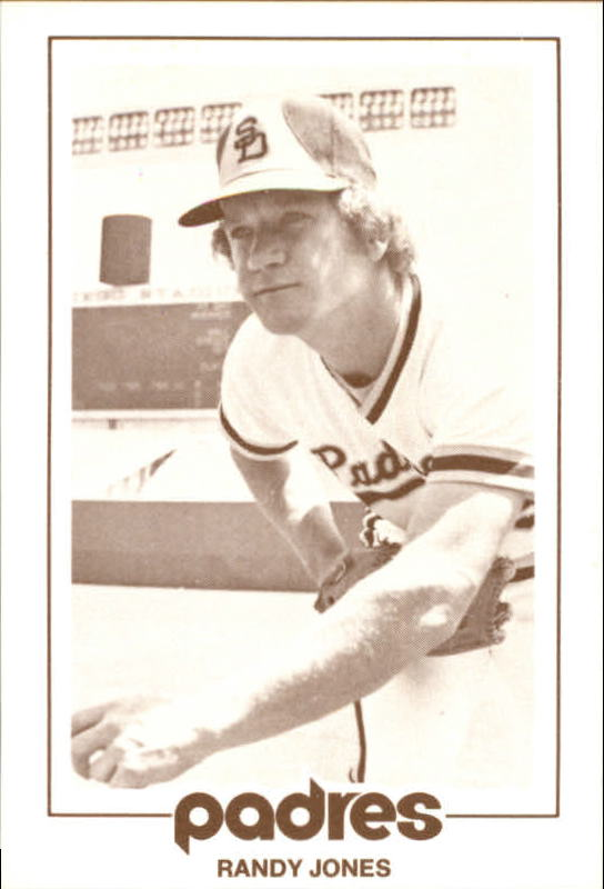 1977 Padres Schedule Cards #30A Randy Jones/Following Through