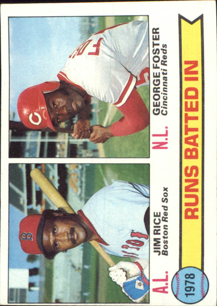 1979 Topps #2 Home Run Leaders/Jim Rice/George Foster
