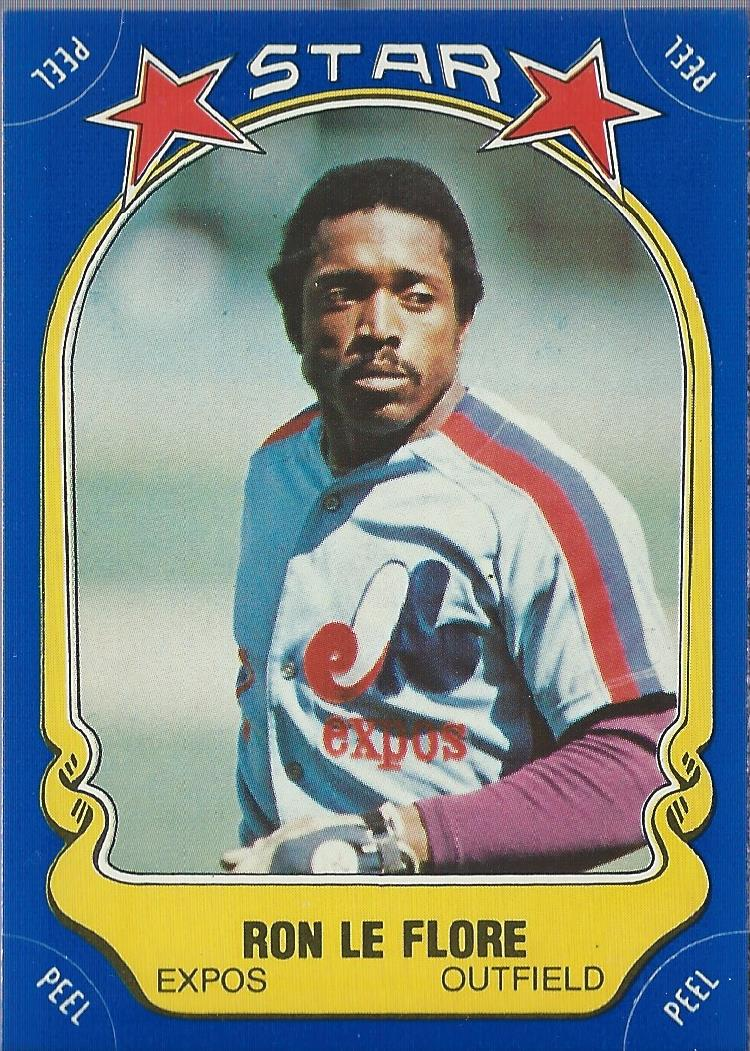 1981 Fleer Star Stickers #2 Ron LeFlore