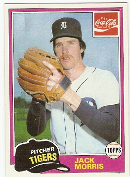 1981 Coke Team Sets #54 Jack Morris