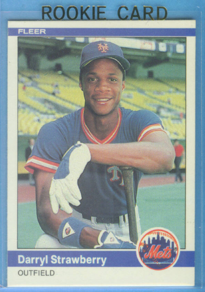 1984 Fleer #599 Darryl Strawberry RC