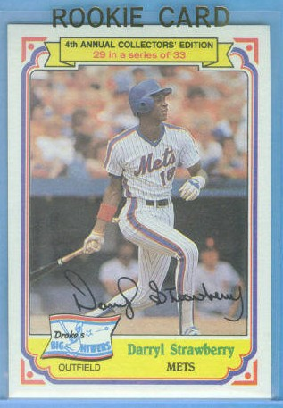 1984 Drake's #29 Darryl Strawberry