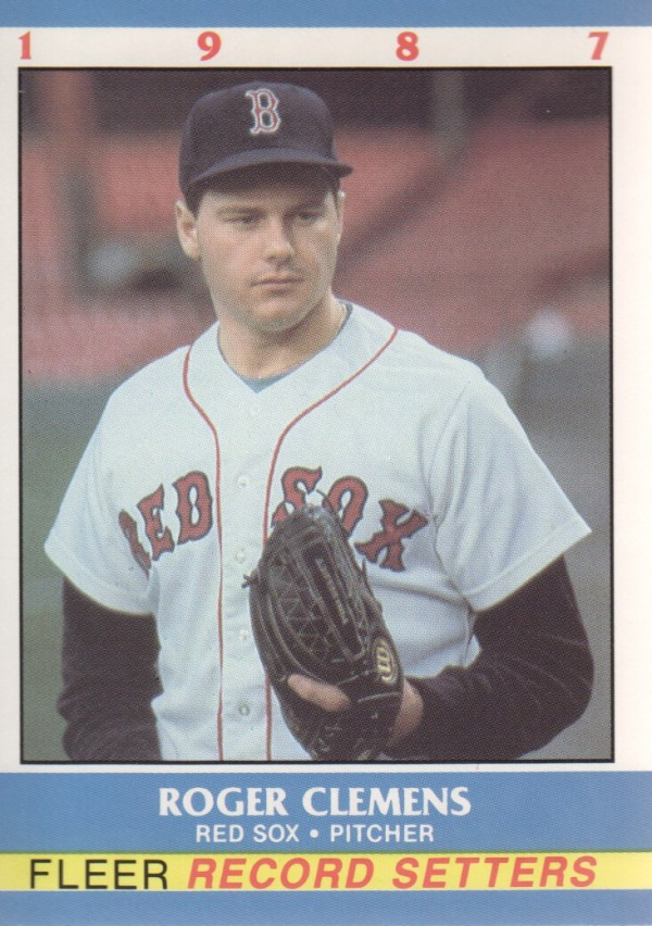 1987 Fleer Record Setters #4 Roger Clemens