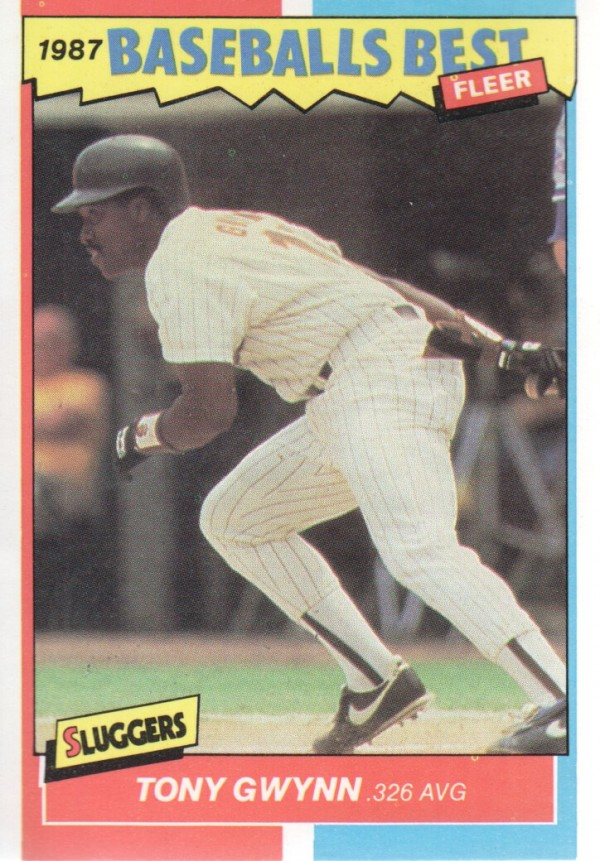 1987 Fleer Sluggers/Pitchers #17 Tony Gwynn