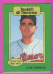 1987 Hygrade All-Time Greats #53 Luis Aparicio front image
