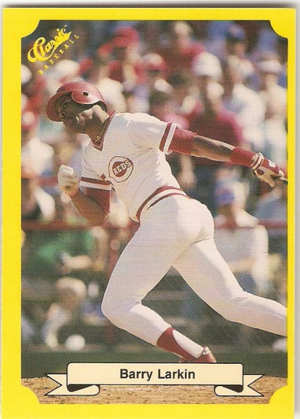 1987 Classic Update Yellow/Green Backs #133 Barry Larkin