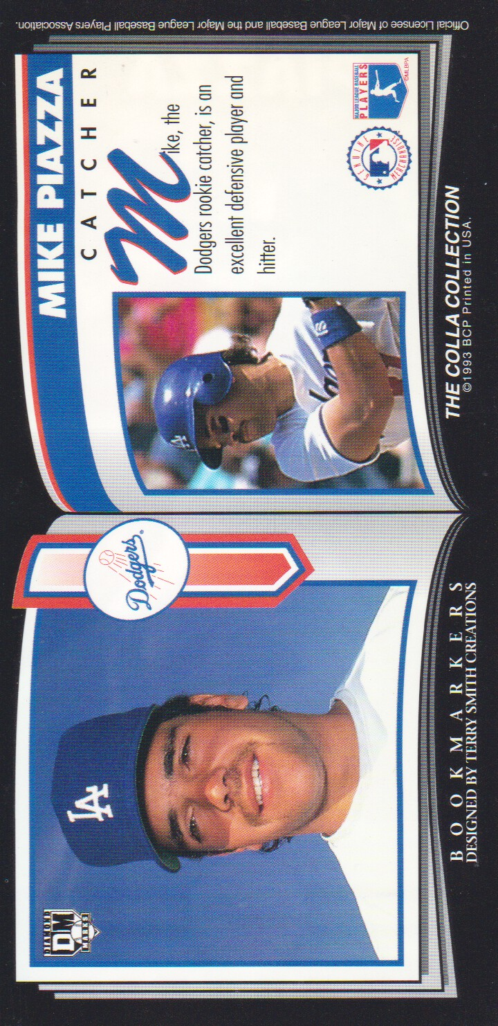 1993 Diamond Marks #86 Mike Piazza back image