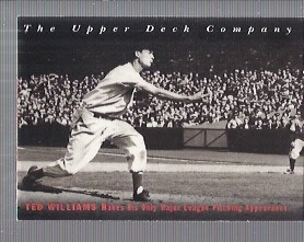 1994 Upper Deck All-Time Heroes #1 Ted Williams OW