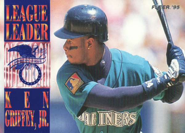 1995 Fleer League Leaders #2 Ken Griffey Jr.