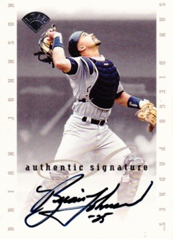 1996 Leaf Signature Extended Autographs #90 Brian Johnson
