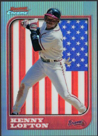 1997 Bowman Chrome International Refractors #54 Kenny Lofton
