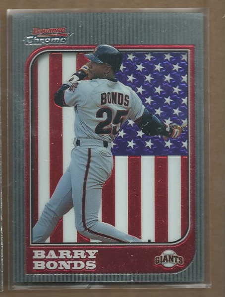 1997 Bowman Chrome International #69 Barry Bonds