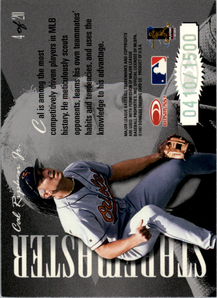 1997 Donruss Preferred Staremasters #4 Cal Ripken back image