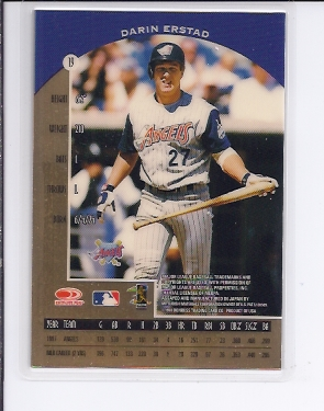 1998 Donruss Preferred Precious Metals #19 Darin Erstad back image