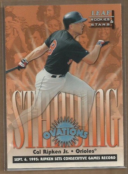 1998 Leaf Rookies and Stars Standing Ovations #6 Cal Ripken