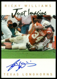 1999 Just Imagine Autographs #24 Ricky Williams front image