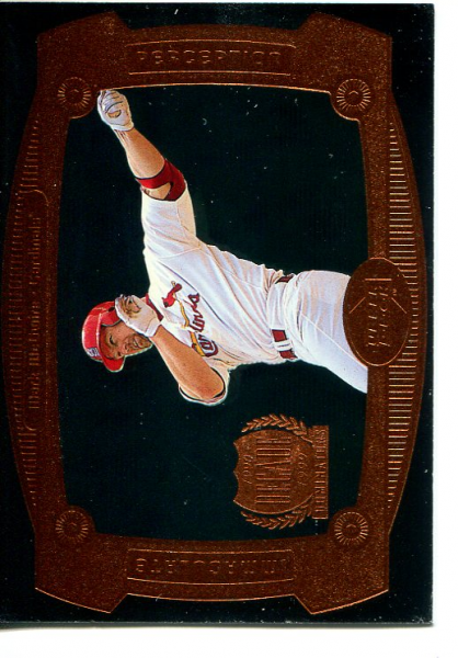 1999 Upper Deck Immaculate Perception Double #I16 Mark McGwire