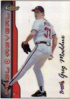 1999 Finest Peel and Reveal Hyperplaid #6 Greg Maddux