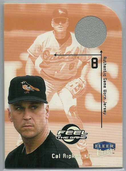 2000 Ultra Feel the Game #6 Cal Ripken Jsy