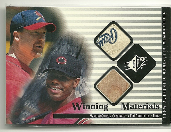 2000 SPx Winning Materials Update #MMKG M.McGwire/K.Griffey Jr.