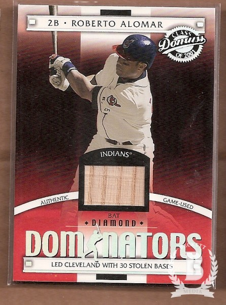 2001 Donruss Class of 2001 Diamond Dominators #DM11 Roberto Alomar Bat/200