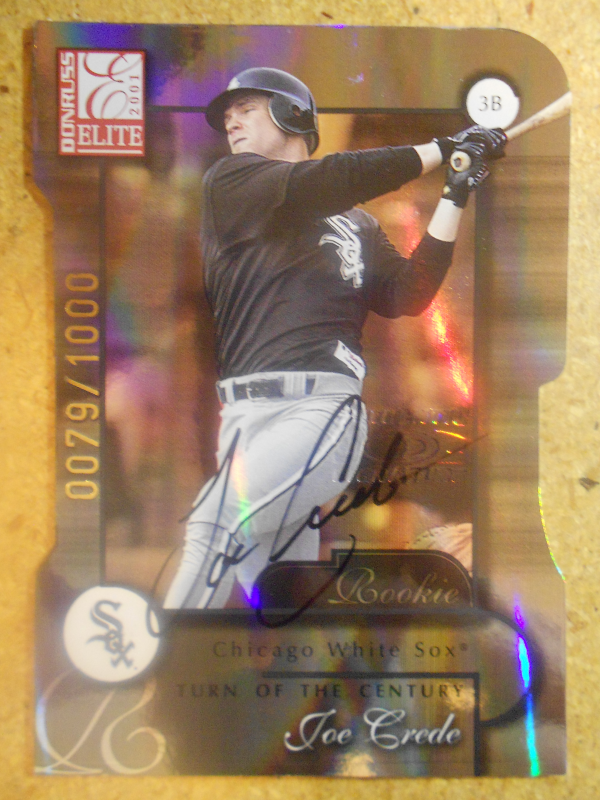 2001 Donruss Elite Turn of the Century Autographs #157 Joe Crede